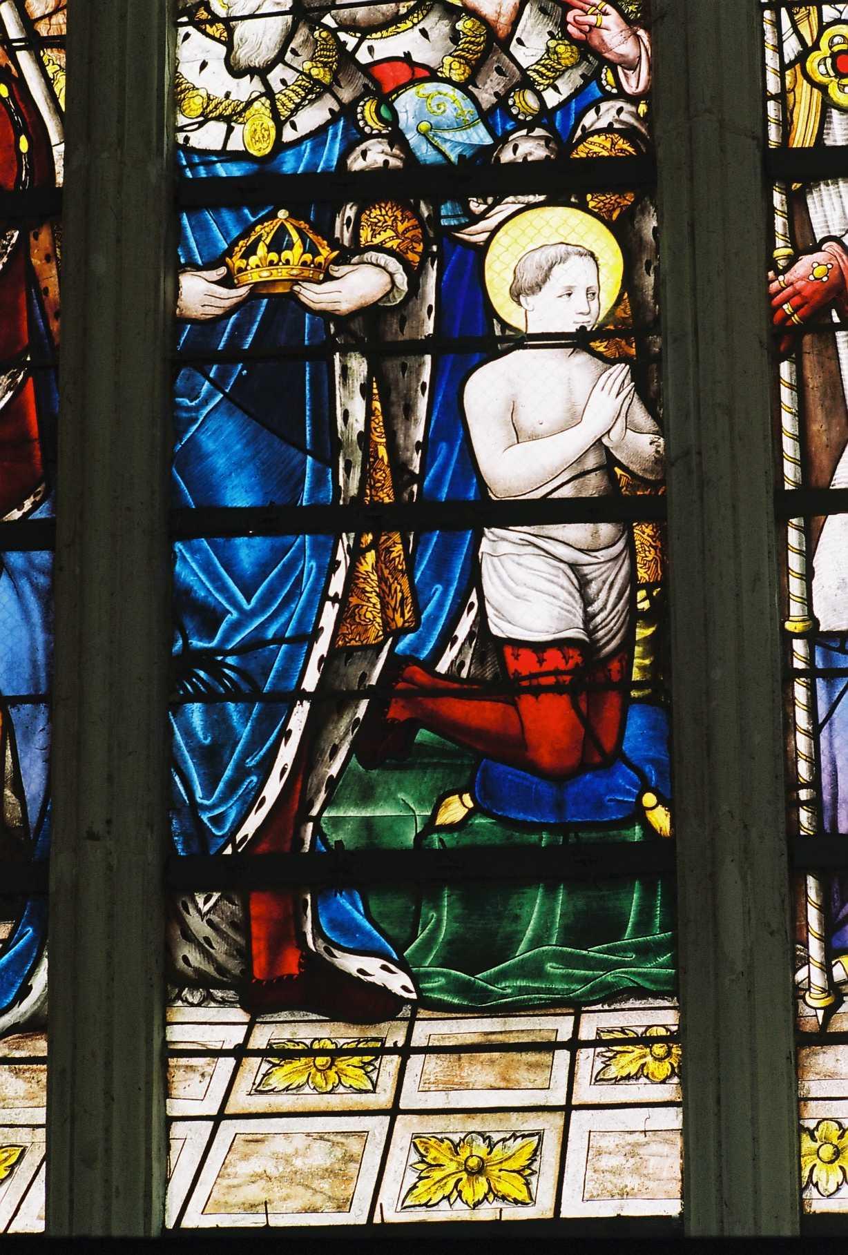 Sainte Chapelle de Champigny Le sacre de Saint Louis